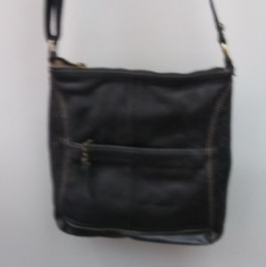 The Sak Black Cross Body Leather  Bag